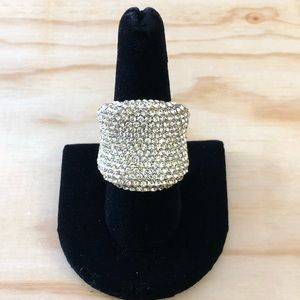 "Joan Boyce Goldtone ""Must Have"" Pave Ring"